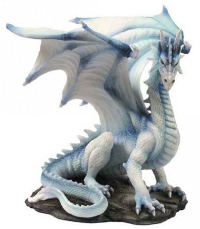"""Drachen-Figur """"Weißer Drachen der Weisheit"""", 20cm"""