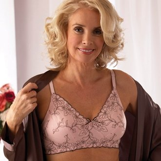 Royce Cocoa Blush Pocketed Mastectomy Post-Surgery Non-Wired Bra