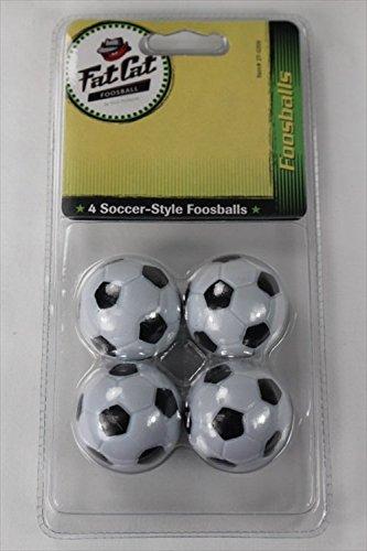 Fat Cat 36 mm Regulation Size Foosballs, Soccer Style, 4 Pack