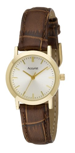 Accurist Brown Leather Strap Ladies Watch - LS670G