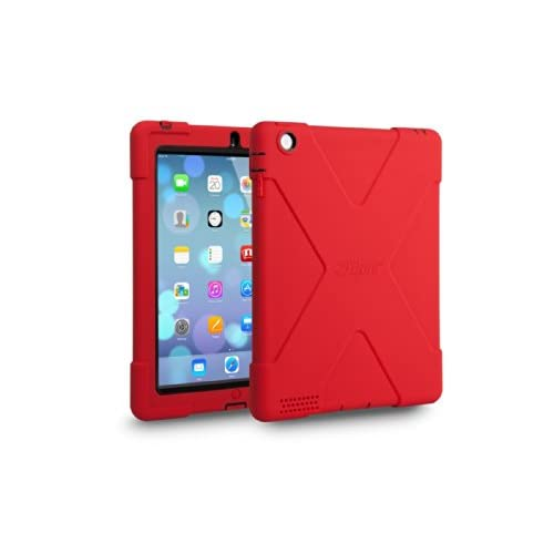 The Joy Factory aXtion Bold, Rugged Water-resistant Case w/built-in screen protector for iPad 4th/3rd/2nd Gen (Red/Black)