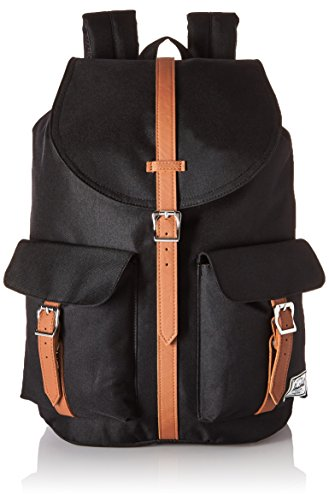 [ハーシェルサプライ] Herschel Supply(ハーシェルサプライ)公式 Dawson 10233-00001-OS Black/Tan Synthetic Leather (Black/Tan Synthetic Leather)