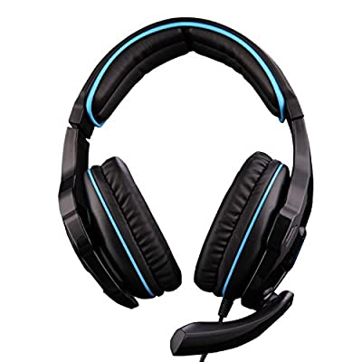 SADES SA810 Gaming Headphone Headset For Computer Gamer 3.5mm Plug Stereo Deep Bass Earphone With Mic Black Color By Afunta