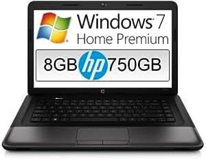 HP Compaq Presario (15,6 Zoll) Notebook (Intel Pentium Dual Core 2020M, 8GB RAM, 750GB S-ATA HDD, Intel HD, HDMI, 3xUSB, WLAN, DVD-Brenner, Windows 7 Home Premium 64 Bit, GDATA Internet Security 2014)