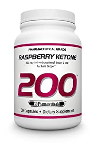 SD Pharmaceuticals Raspberry Ketone Capsule, Fat Loss Support, 60 Count