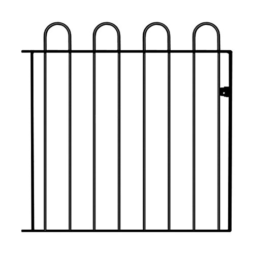 COURT05 Hoop Top Garden Gates 1000mm (3ft 3in) GAP X 950mm High Wrought Iron