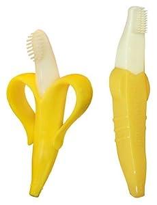 Original Baby Banana Bendable Infant Training Toothbrush & Baby Banana Bendable Toddler Training Toothbrush by Baby Banana