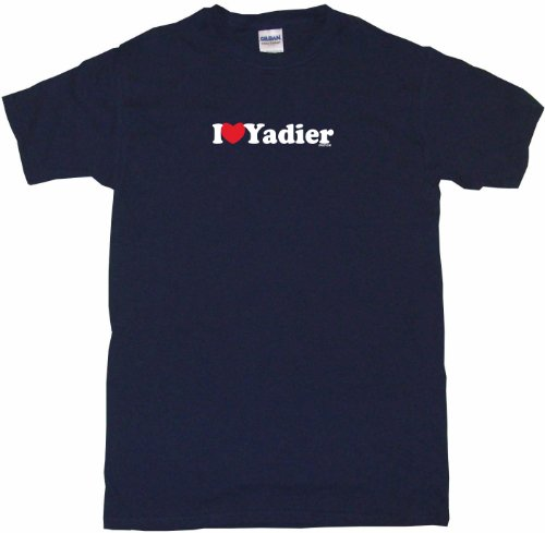 I Heart Love Yadier Men's Tee Shirt 4XL-Navy at Amazon.com
