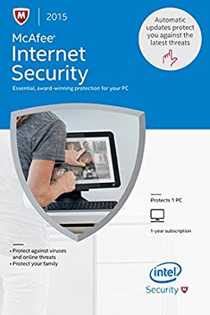 McAfee Internet Security 2015 - 1 PC [Online Code]