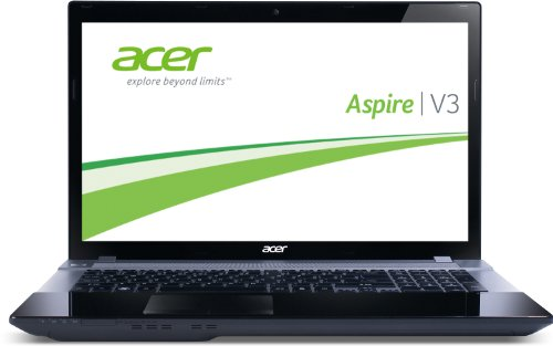 Acer Aspire V3-771G-53214G50Makk 43,9 cm (17,3 Zoll) Notebook (Intel Core i5 3210M, 2,5GHz, 4GB RAM, 500GB HDD, NVIDIA GT 630M, DVD, Win 8) schwarz