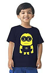 Mintees 100% Combed Cotton Boy's Graphic Print Navy Colour Tshirt MBRNT04-004_2-3Yrs