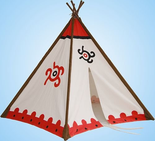 """Tipi Wigwam Indianerzelt mit Metall-Stangen 180 x 140cm """"Top Qualität"""" günstig kaufen"""