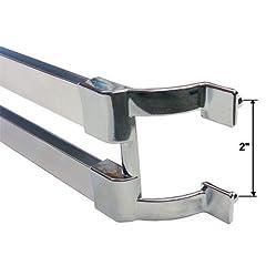 Prime-Line Products 19508 Shower Door Towel Bar Bracket 2-Pack Chrome