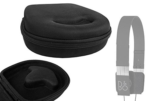 Duragadget Classic Black Rigid Shell Protective Headphone Storage Case Suitable For Bang & Olufsen (B&O) Play Form 2 & Form 2I Stereo Headphones