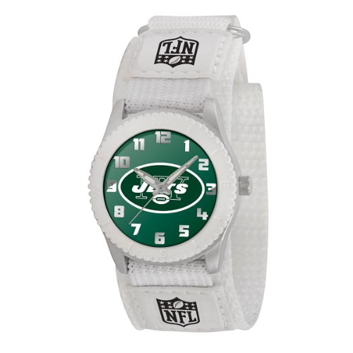 Game Time Mid-Size NFL-ROW-NYJ Rookie New York Jets Rookie White Series Watch at Amazon.com