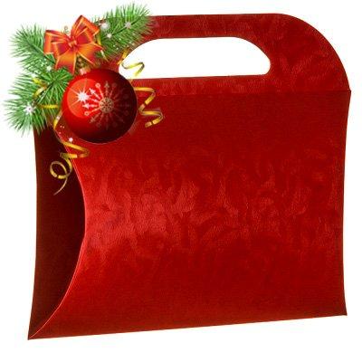 6 Decorative Boxes - Italian Design Premium and Stylish Red Borsetta (9.06x7.87x2.17 inches) 230 (Decorative Packaging compare prices)