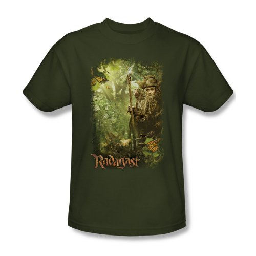The Hobbit Desolation of Smaug Movie Radagast In The Woods Adult T-Shirt Tee