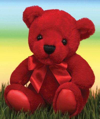 First Main Inc. 1581 6 Rainbow Bear - Red