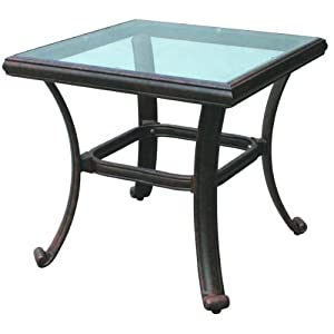 glass top square end table patio side tables patio lawn garden