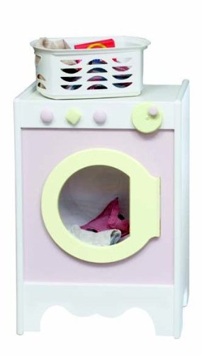Детские игрушки для уборки дома Little Colorado Kids Play Washer & Dryer - White with Soft Pink/Pastel Green