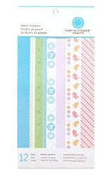 Martha Stewart Crafts Paper Borders 6'' X 12'' Baby Girl/Boy