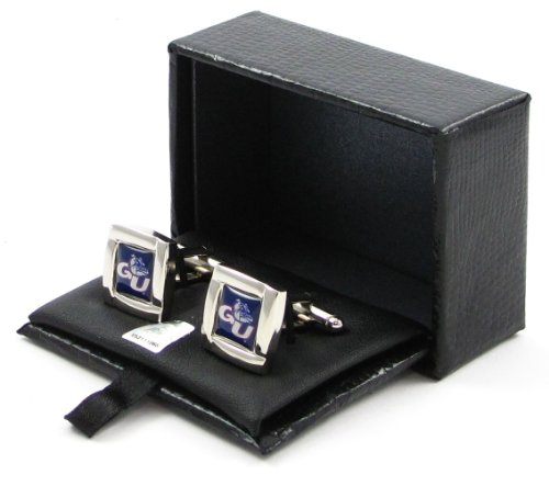 NCAA Gonzaga Bulldogs Square Cufflinks With Square Shape Engraved Logo Design Gift Box Set