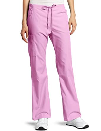 Dickies Scrubs Women's Petite Back Elastic Cargo Pant, Candy Orchid, X-Small