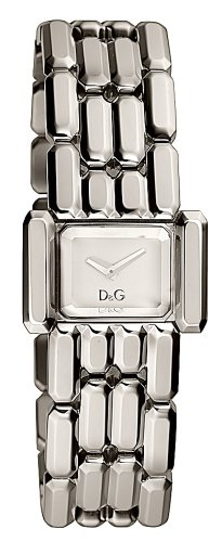D & G Ladies Aristocratic Quartz Watch DW0470 With Silver Rectangular Analogue Dial And Bracelet