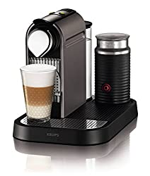 Nespresso XN710140 Krups CitiZ & Milk Titanium Coffee Machine