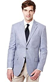 Collezione Wool Blend 2 Button Jacket with Linen