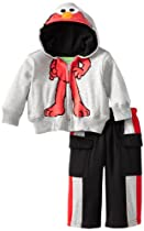 Sesame Street Baby-Boys Infant 2 Piece Elmo Jacket and Pant, Gray, 18 Months