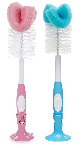 Dr. Brown's Baby Bottle Brush, Pink/Blue, 2 Pack