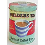 Martin Wiscombe Tin Storage Builders Tea Tin, Assorted