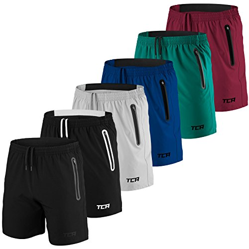 mens-tca-elite-tech-running-training-shorts-black-white-l