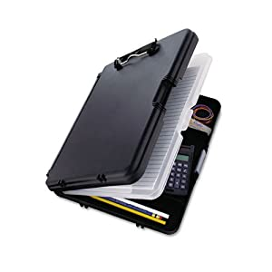 Saunders 00552 WorkMate II Storage Clipboard, 1/2 in. Capacity, Holds 8-1/2w x 12h, Black/Charcoal