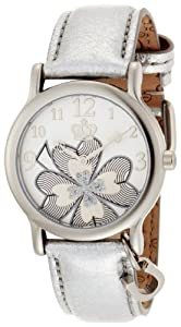 Juicy Couture Women's 1900677 Princess Silver Metallic Leather Strap Watch