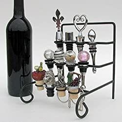 Wine Bottle Stopper Display Rack or Stopper Stand - Holds 12 Stoppers (Not Included)
