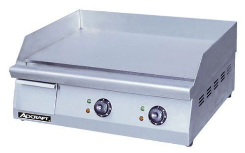 """Adcraft Grid-24 Commercial 24"""" Flat Grill, New Griddle 208/240V, Stainless"""