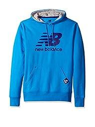 New Balance Men\'s Essentials Plus Pullover Hoodie, Bolt/Navy, Medium
