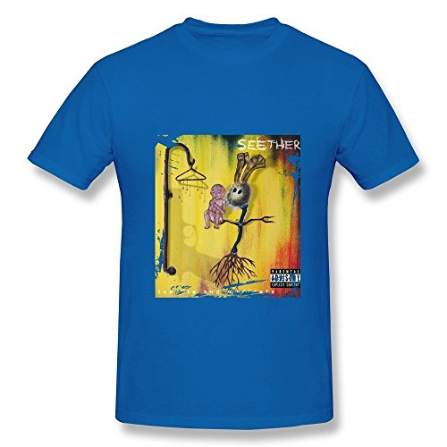 HUBA Men's Tshirt Seether-isolate And Medicate RoyalBlue Size L (Vitamix Mixer Stick compare prices)