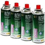 Camping Butane Gas (Pack of 4) Pefect...