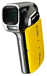 Sanyo VPC-CA102 Waterproof Full HD 1080 Video and 14MP Digital Photos with 12X Dual Range Zoom Yellow NEWEST VERSION