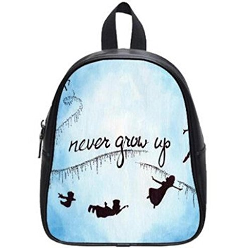 LilyFavor Peter Pan Never Grow Up Custom School Borsa(Large)