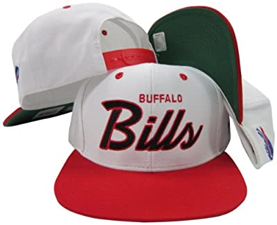Buffalo Bills White/Red Script Two Tone Adjustable Snapback Hat / Cap