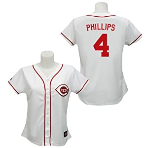 Brandon Phillips Cincinnati Reds Home Ladies Replica Jersey by Majestic by Majestic