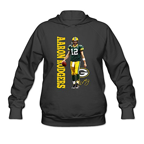 duola-custom-aaron-rodger-green-bay-packer-womens-hooded-sweatshirt-m-black