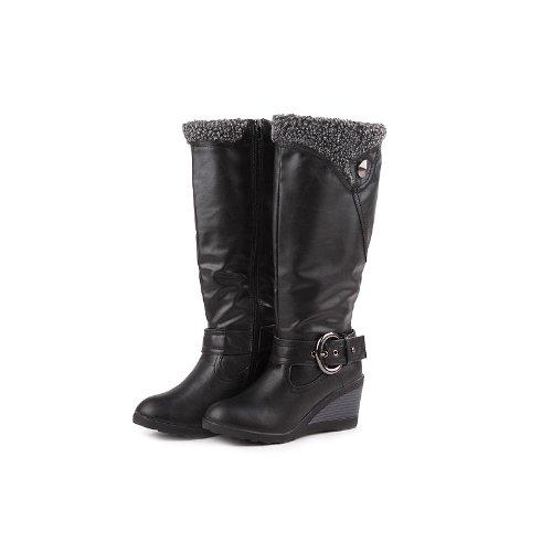 Reneeze K-ADDIE-3 Kids Wedge Mid-Calf Winter Boots- Black