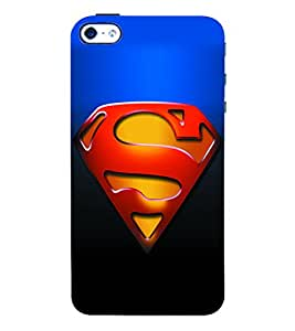 Fuson 3D Printed Super Man Logo Designer Back Case Cover for Apple iPhone 4 - D951