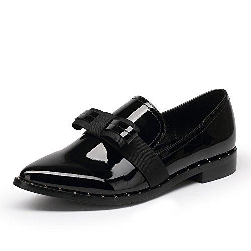 Coréen a fait des souliers à l'automne/ femmes bas chaussures / Leisure chaussures de cuir verni rouge vin de proue