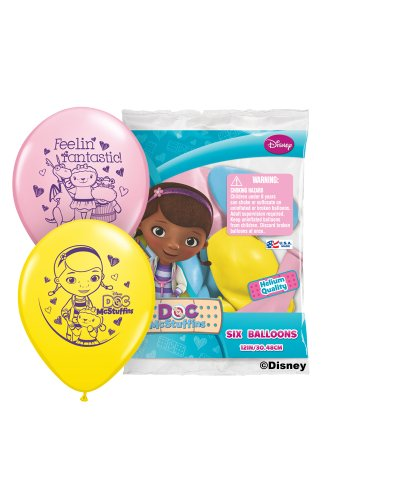 "Pioneer National Latex Doc McStuffins 6 Count 12"" Latex Balloons, Assorted"